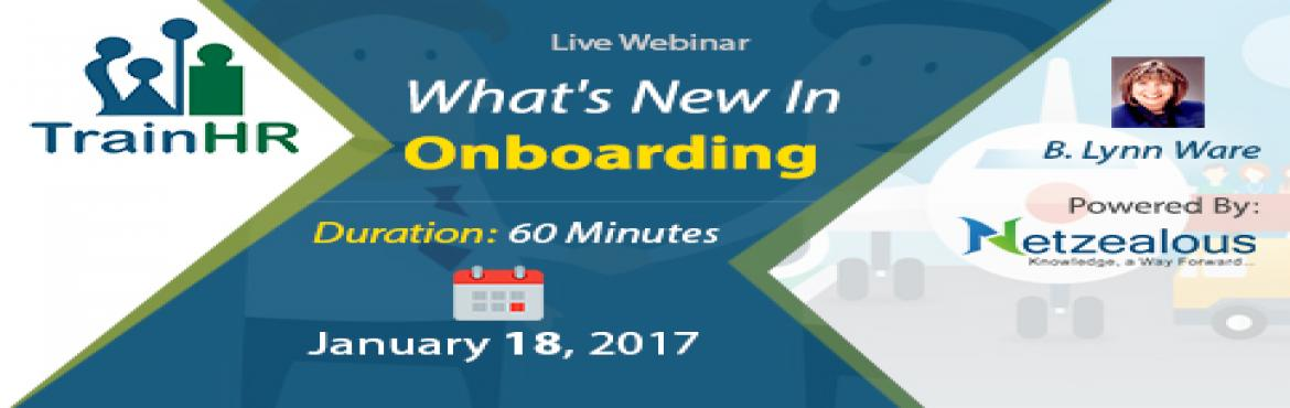HR Related webinar on  What is New In Onboarding