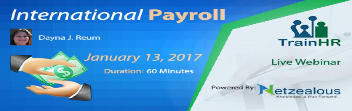 webinar on the topic International Payroll  conducting by TrainHR