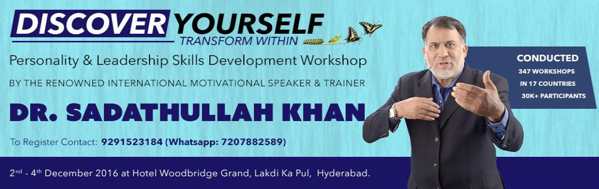 """Book Online Tickets for Discover Yourself - Transformation Withi, Hyderabad. About the Workshop: 'Discover Yourself' workshop is now being organized in Hyderabad by """"The Awami Insaaf Movement"""". A typical 'Discover Yourself' imparts inner peace to the participants. It frees, helps free"""