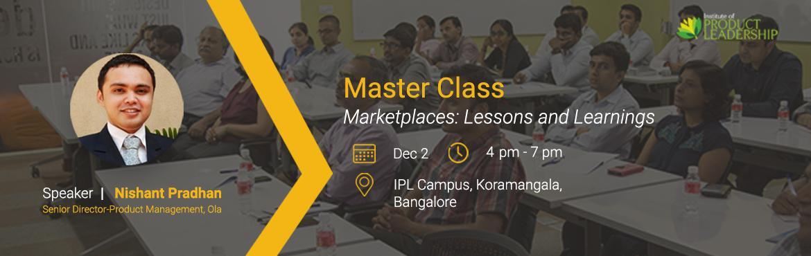 Book Online Tickets for Master Class: How to build Marketplaces , Bengaluru. Online marketplaces have become an integral part of the e-Commerce industry. Consumers get to shop from a variety of merchants for the products and services that they are looking for at very competitive prices. According to a survey about 65% of cons