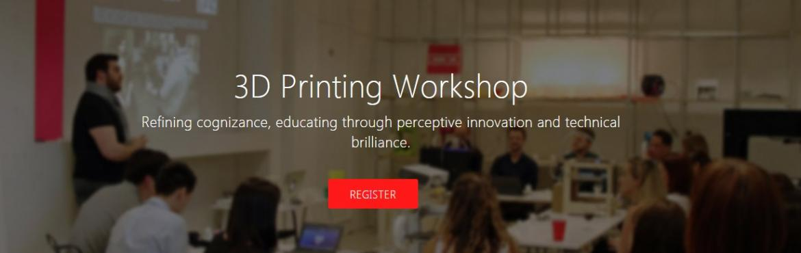 Book Online Tickets for 3D Printing Workshop - Kochi, Kochi. 3D Printing is one of the next big things. Of late, there\'s a speculation that 3D Printers would be part of the everyday life in the near future. We at 3Ding are preparing the world for such an upcoming future. This 1-day workshop is all about