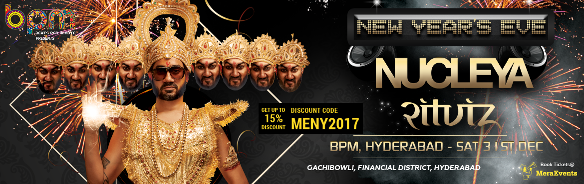 We are all set to bring the BASS RAJA Nucleya at Beats Per Minute this New Year's Eve. Hyderabadi's Don't Miss the koocha monster on Dec