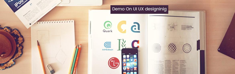 Demo On UI UX designinig