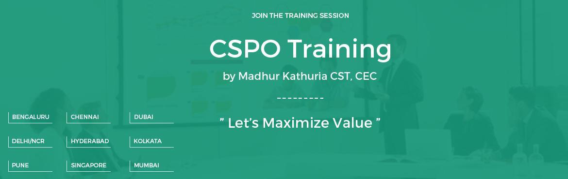 "Book Online Tickets for Certified Scrum Product Owner-CSPO- Work, Dubai.   Certified Scrum Product Owner (CSPO) Workshop; @Abu Dhabi   Date: 24-25 Feb, 2017   Venue: TBD   In this two-day CSPO training by ""Madhur Kathuria""; you will learn how to get better ROI delivered ?, how bes"