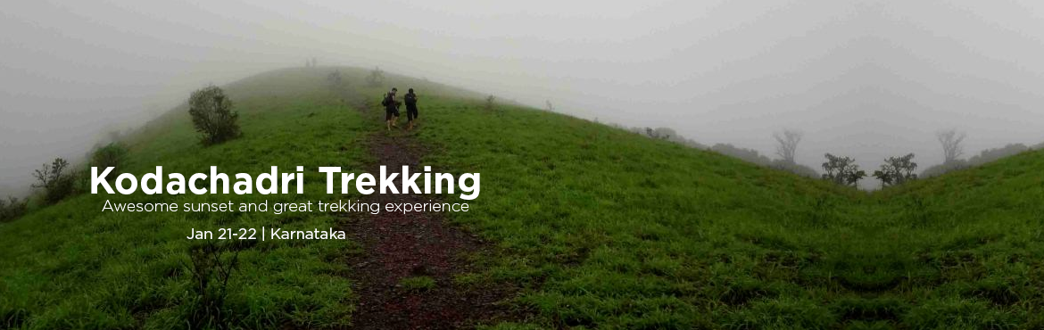 Book Online Tickets for Kodachadri trekking, awesome sunset and , Valur. Kodachadri hills are filled with dense forests at an altitude of 1343 metres above sea level. While trekking to the top of altitude one can witness beauty of Hidlumane Falls. The sunset watched from Kodachadri peak on a clear day is an enchanting exp