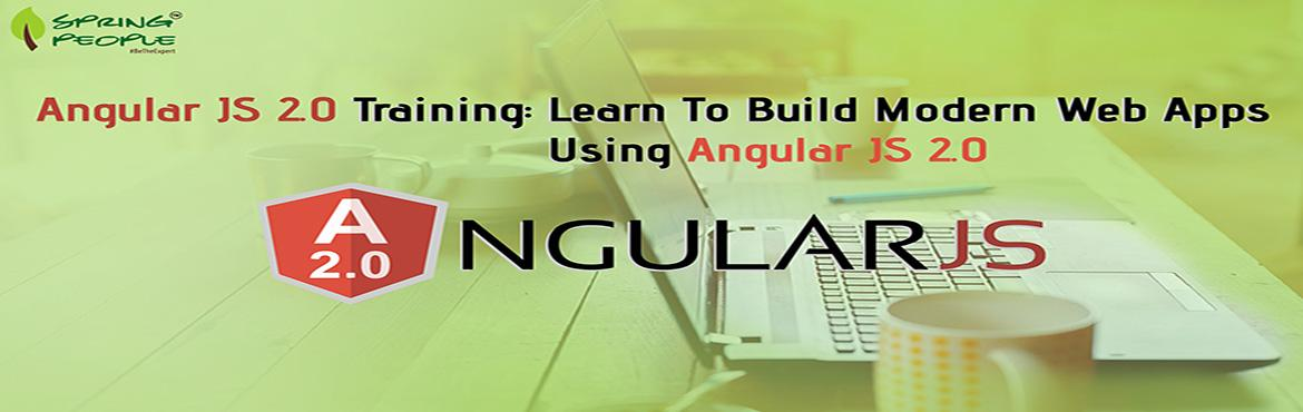 Book Online Tickets for Angular.JS 2.0 Certification Training, Bengaluru. This workshop aims at equipping the participants with the necessary knowledge and skills required to build rich internet applications using cutting edge RIA framework from google \