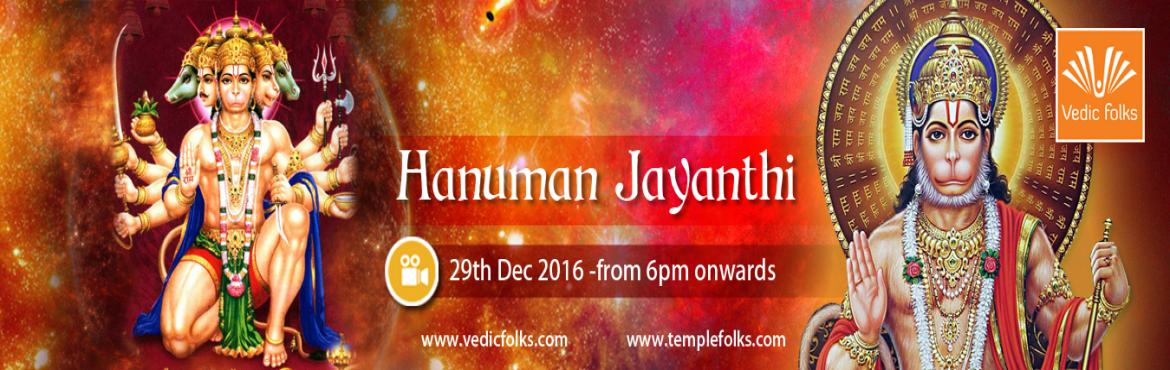 Book Online Tickets for Hanuman Jayanthi Puja Panchamukha Hanuma, Chennai. Hanuman Jayanthi PujaLord Hanuman a symbol of strength and energy\
