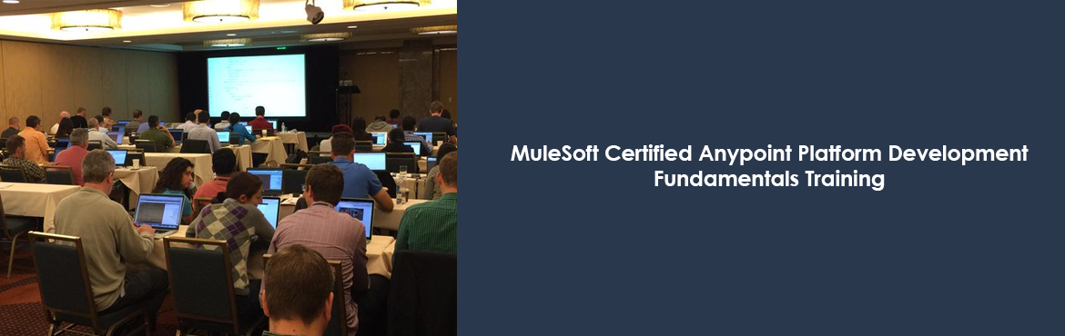 Book Online Tickets for MuleSoft Certified Anypoint Platform Dev, Bengaluru. MuleSoft certified Anypoint Platform Essentials Training is a complete beginners guide to developing integration applications on CloudHub or Mule ESB which covers various important topics.  Enroll Now: https://goo.gl/KgwPFP
