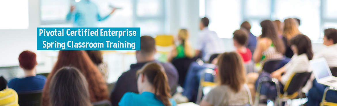Book Online Tickets for Pivotal Certified Enterprise Spring Clas, Bengaluru. Spring is the most popular and extensively used framework for developing business logic in enterprise applications. Our course in Enterprise spring teaches skills to developed robust enterprise applications mastering techniques like Spring Integratio