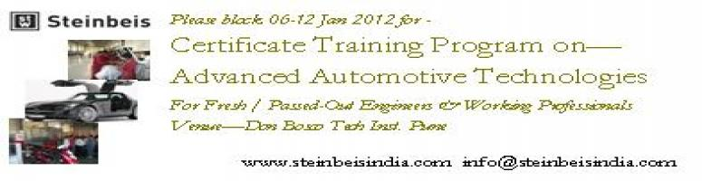 Certificate Training Program on Advanced Automotive Technologies