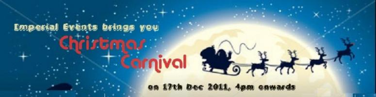 "Book Online Tickets for Christmas Carnival @ Imperial Gardens-Hy, Hyderabad. Imperial Events bring to you the ""Christmas Carnival"" organized for the Saturday 17th of Dec 2011 from 4:00 pm onwards at the Imperial Garden in Sikh Village Road, Secunderabad.