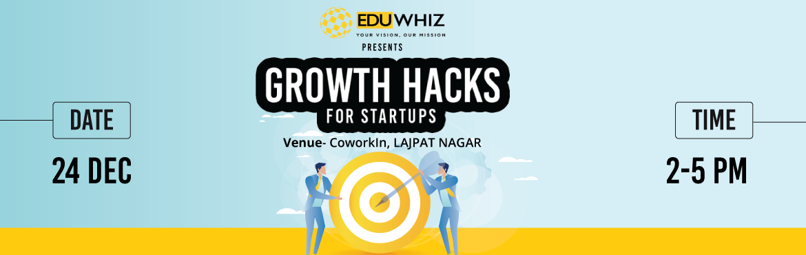Book Online Tickets for Growth Hacks For Startups, NewDelhi. What does it take for your business to survive in the competitive world? What are the aspects of technology that you definitely need to know before jumpstarting your entrepreneurial journey? What do you need to know to take it to the new he