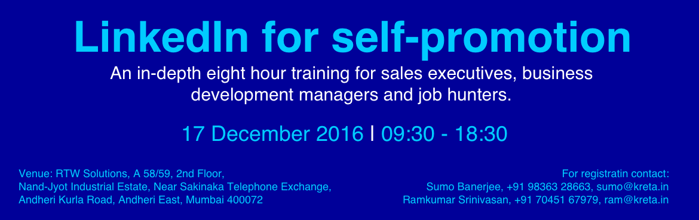 Linkedin for Self Promotion Workshop