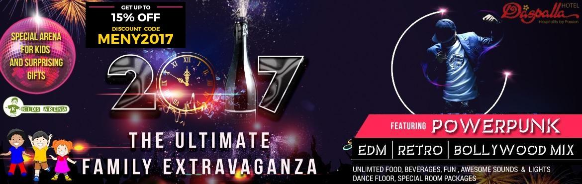 Book Online Tickets for NYE 17 Extravaganza at Hotel Daspalla, Hyderabad.   This New Year party one of the most loved venues of the city- D convention at Hotel Daspalla   Get high on spirit as you quench the thirst with a glass or more of your favorite drink after all you get to enjoy unlimited drinks.