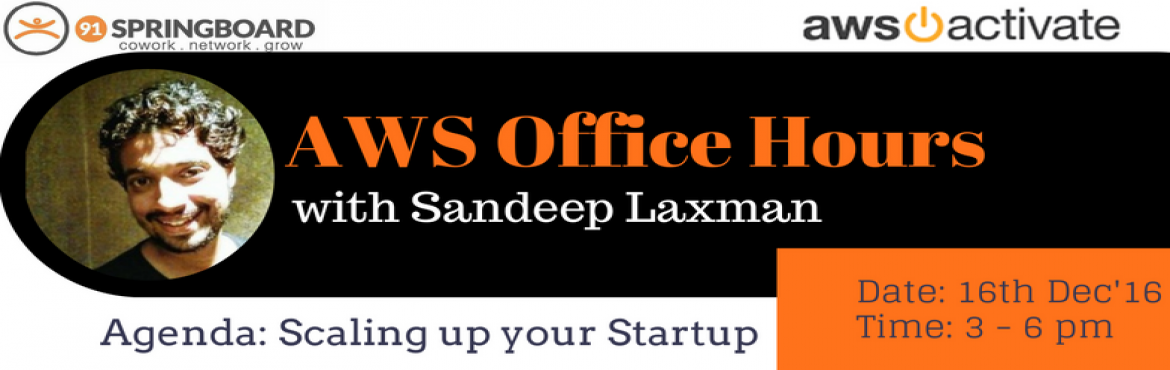 Book Online Tickets for AWS Office Hours, Mumbai. Nothing ever gets built without an idea first. And start-ups are no different: they start with a simple thought, a small idea. But what's next? That idea then needs to be developed into a product and into a business. For that to happen, any sta