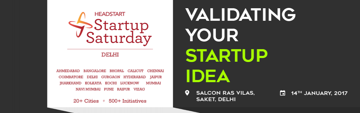Book Online Tickets for Validating your Startup Idea, NewDelhi. Working on a cool idea for months?Done with first prototype?But are you 100℅ sure that people will buy your product?Many startups spend months and years building a product on their idea but still find very hard to find users for their product.Many