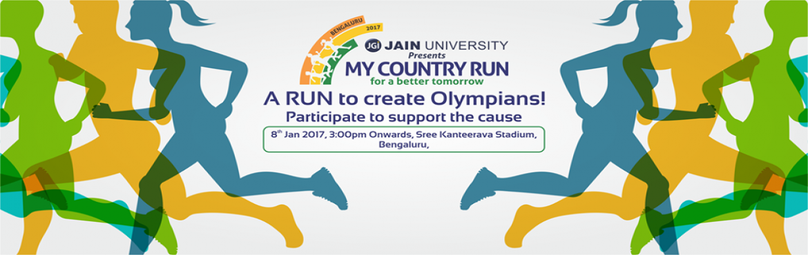 Book Online Tickets for MY COUNTRY RUN, Bengaluru. My Country Run is brought to you by Jain University. Through this run, we wish to contribute by identifying and nurture sporting athletics.