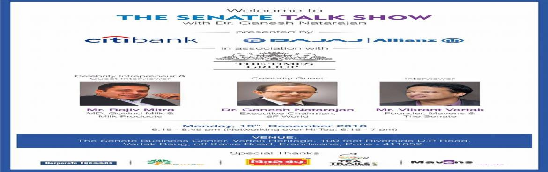 INVITATION - Talk Show with Dr. Ganesh Natarajan