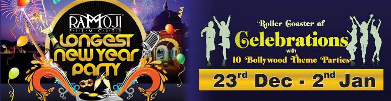 Book Online Tickets for Longest New Year Party @ Ramoji Film Cit, Hyderabad. Themed brilliantly to suit the swinging New Year moods, every single evening of the longest New Year party at Ramoji Film City will have a riot of mind-boggling fun, entertainment and magic of cinema. 