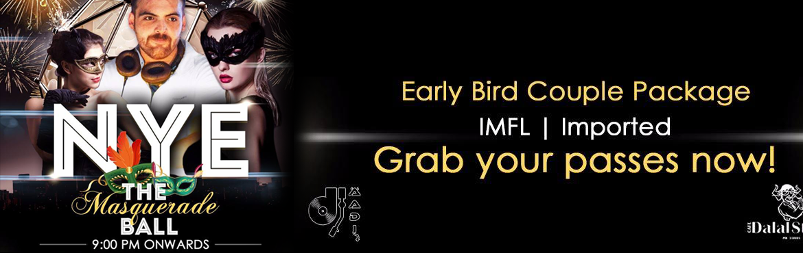 Book Online Tickets for New Year Eve Masquerade Ball, NewDelhi. The best part of the year end is the awesome party scene at #CafeDalalStreet! Are you ready to rock with us? Come be a part of the amazing Masquerade Ball with our favorite DJ the awesome DJ Aadi!