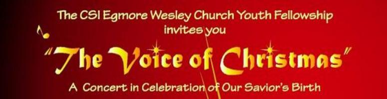 Book Online Tickets for Egmore Wesley Church Youth Fellowship Co, Chennai. We cordially invite you all for the Egmore Wesley Church Youth Fellowship Christmas Concert. Please do come with your family and friends