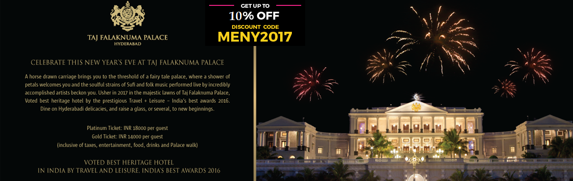 Book Online Tickets for New Year Celebrations 2017 at Taj Falakn, Hyderabad. We at Taj Falaknuma Palace are organizing New Year Event at the Main lawns.This would be a Sufi and folk musical evening and we would have an elite gathering from Hyderabad.  Artists:  1) Indie Routes-Indie Routes is a music endeavor by t