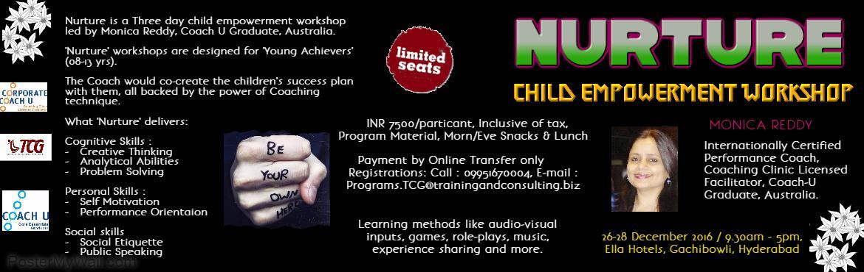 NURTURE- Child Empowerment Workshop