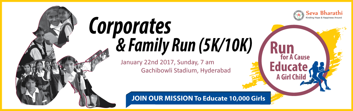 Book Online Tickets for Seva Bharathi - Run for a Cause Educate , Hyderabad. Seva Bharathi is an NGO working for the economically weaker sections of Indian society with special focus on Education, Health and Women Empowerment in socioeconomically marginalized, tribal and indigenous communities. Seva Bharathi is orga
