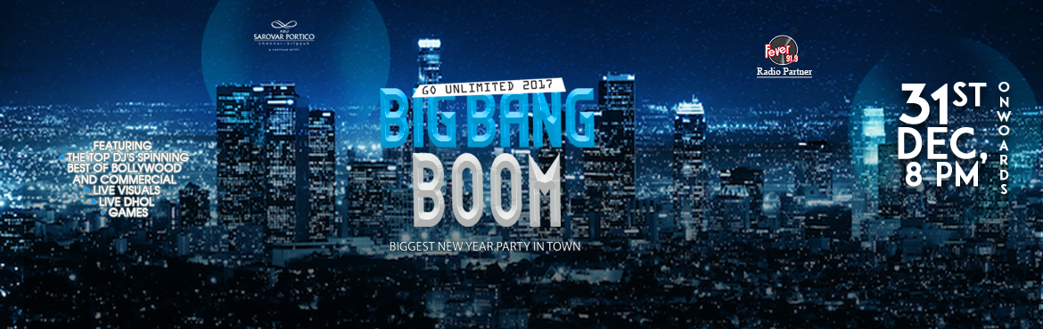 Book Online Tickets for Big Bang Boom - Go Unlimited NYE 2017, Chennai. The Biggest New Year Party Gathering Of Over 1000 Plus People.  Unlimited Food And Beverages.  Dj Krish Dj Kunal Dj Rajat Dj Rineesh Live Visuals, Live Dhol Kids Play Zone Girls Walkin Free For Pre Registered