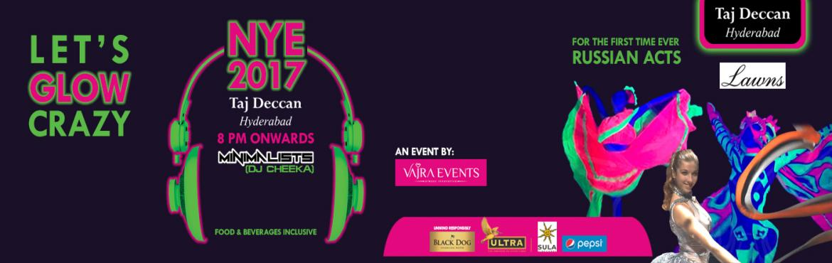 Book Online Tickets for NYE-17 with DJ Cheeka at Taj Deccan Hyde, Hyderabad.  DJ ARTIST --- DJ CHEEKA   Organised by Vajra Events, the team that brings years of event experience to the people of Hyderabad, Known as most innovative experience creating event managers in association with India\'s Top 15 DJ, \