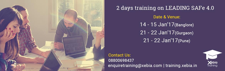 Leading SAFe 4.0 Training Gurgaon 21-22 Jan 2017