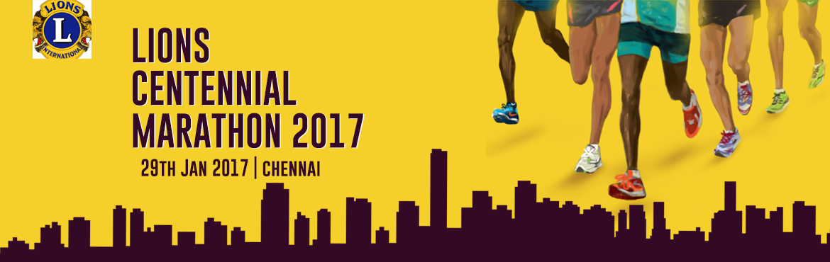 Book Online Tickets for LIONS CENTENNIAL MARATHON 2017-Chennai, Chennai. Running has become a sensation and running for a cause not only shows one\'s support but also gives you an inner satisfaction. The\