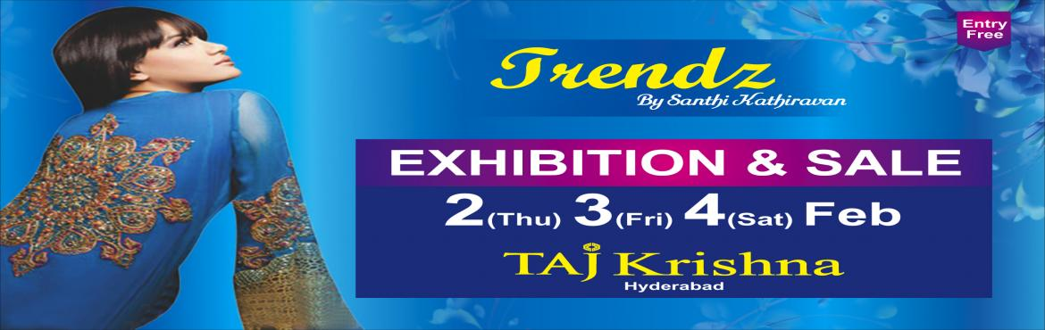 Book Online Tickets for TRENDZ by Santhi Kathiravan 2,3,4 FEB, Hyderabad. Are you ready for the MOST awaited FASHION event of 2017? Witness the grandest collection of 130 Designers from across the country showcasing their handpicked collection of Fashion & Designer wear, Jewellery, Accessories, Footwear and more... SHA
