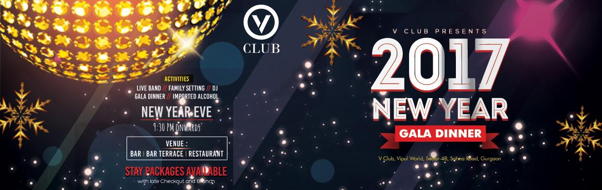Book Online Tickets for New years Eve Party @ V Club, Gurugram.     V Club brings to you a Grand New Year Eve Bash.   Ring in the New years with Deep Bhowmick a renowned Bollywood Singer. He has composed and sang in movies for Yash Raj Films. He and his band will be performing live at the BAR along with a DJ
