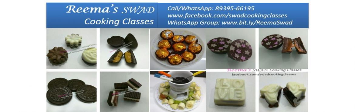 Book Online Tickets for Chocolate Workshop, Chennai.  Reema\'s Swad Cooking Classes schedules tasty Chocolate making workshop... 〰〰〰〰〰〰〰〰Date: 14-Jan Timing: 11-3 PM  This workshop includes:  Variety of Chocolates 〰〰〰〰〰〰 Coffee Magic Tangy Tango Road Rocks Rice Crisps Almond