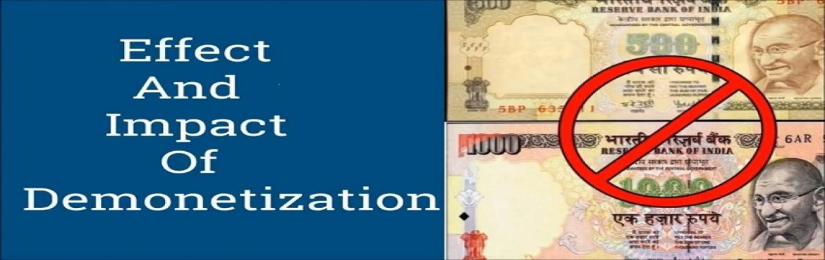 Impact Of Demonetization