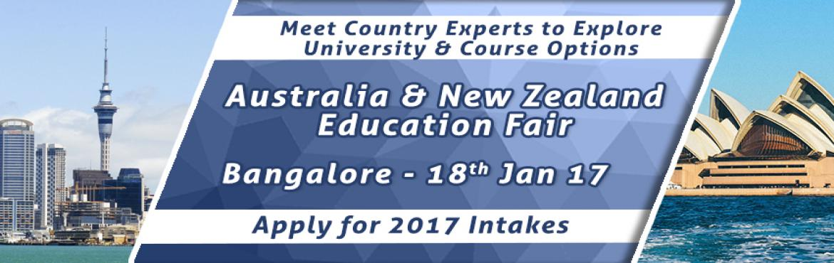 Book Online Tickets for Australia - New Zealand Education Fair 2, Bengaluru. Education fairs are a great tool to let aspiring students know of the various opportunities and options that they can take up for studying abroad. With this vision on mind, The Chopras are organizing Australia and New Zealand Education Fair in Januar