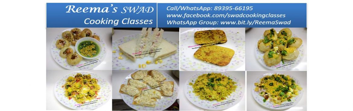 Book Online Tickets for Chaat Items Cooking Workshop, Chennai. Reema\'s Swad Cooking Classes schedules Chat Class 〰〰〰〰〰〰〰〰 ♦Date: 31-Jan ♦Timing: 11-3 PM  This class includes: ♦Bhelpuri ♦Panipuri ♦Dahipuri ♦Papdi Chaat ♦Sevpuri ♦Augratin ♦Khak