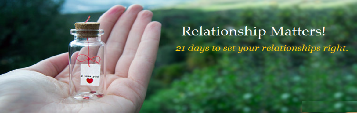 Relationship Matters - 21 Days to Set your Relationship Right