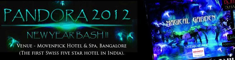 Pandora 2012 New Year Bash at Bangalore on 31st December 2011