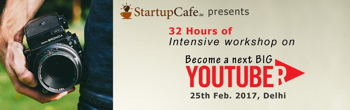 32 hours of intensive workshop on making YouTube videos, editing, promoting and earning from them. This 4 days (8 hours a day) workshop includes basic