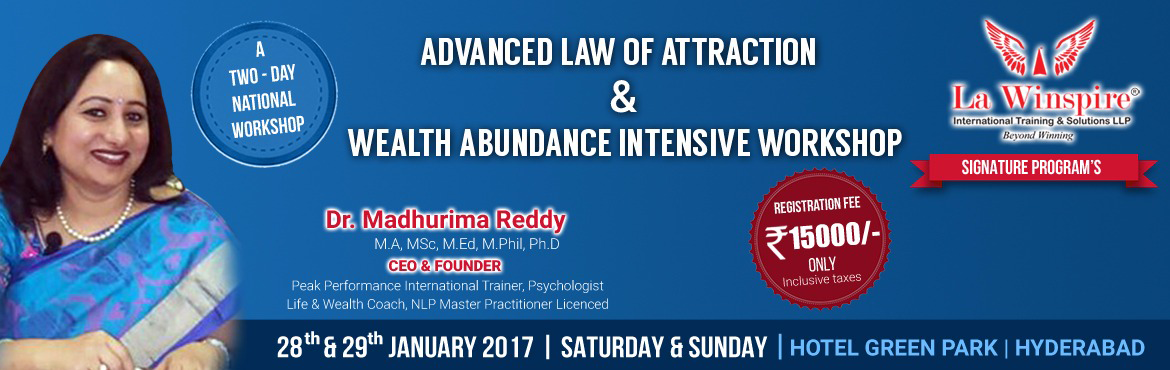 Book Online Tickets for Exclusive Workshop  on Advance law of at, Hyderabad.   The Law of Attraction is Law of Universe just like the Law of Gravity and it is powerful like any other words.In simple Words whatever we think becomes reality in your life.we attract experiences and consequences in out life-related to our thoughts