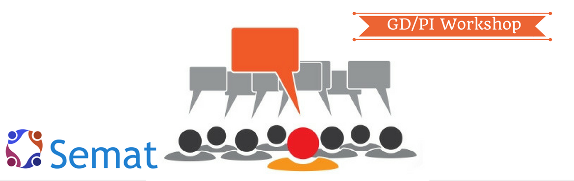 Book Online Tickets for workshop on cracking Group Discussions a, Pune. Semat presents a 2 day workshop on cracking Group Discussions and Personal Interviews – exclusively for MBA aspirants.  The workshop covers basic lessons on GDPI preparation followed by rigorous practice sessions and individual feedback by expe
