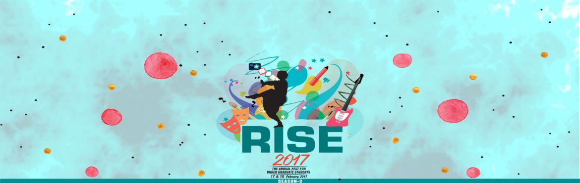 Book Online Tickets for IPERUG RISE Season 3 - Annual Fest of Un, Bhopal. On 17 & 18 February, 2017 the Students of Under Graduate College of IPER are celebrating their Annual Fest - IPERUG RISE Season 3. This is going to be the Third Season of Rise at IPER UG - thrill, fun, frolic, singing, dancing and Inter-college c