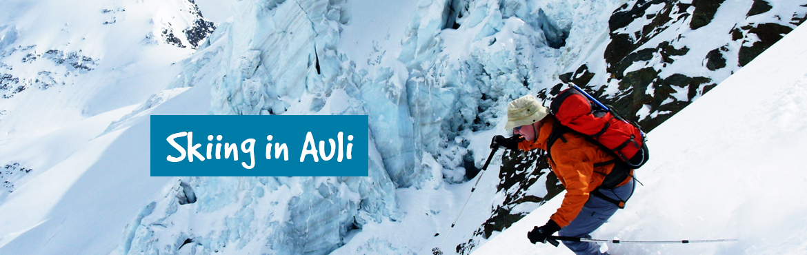Book Online Tickets for Skiing in Auli, Auli Laga .    The height and slope of Auli makes it the best destination for skiing not only in India but also in the world. 3,050 metre high and 3 km long slope paved with fine snow makes skiing in Auli smooth and easy. Auli also boasts to have the longes