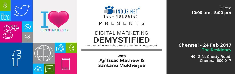 Digital Marketing Demystified - Chennai