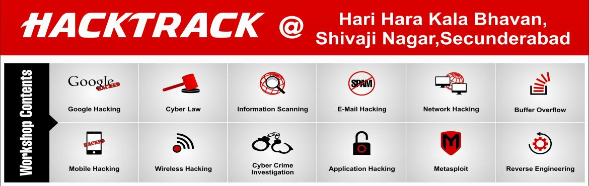 Book Online Tickets for Hacktrack - Ethical Hacking Workshop By , Secunderab. TechGeeks presents a one day workshop on Ethical Hacking by Mr.Sunny Vaghela.Mr.vaghela is one of the India\'s top ethical hacker and was a part of many investigating teams like ATS,FBI and many co-operative companies like Google,Yahoo!,ZOHO,and many