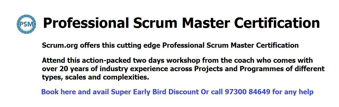 Book Online Tickets for Scrum Master Certification Course, Pune. Do you know that Microsoft uses Professional Scrum Master (PSM) assessment to validate knowledge as part of its silver and gold application lifecyle management competencies? Professional Scrum Master (PSM) is the cutting-edge course for anyone workin