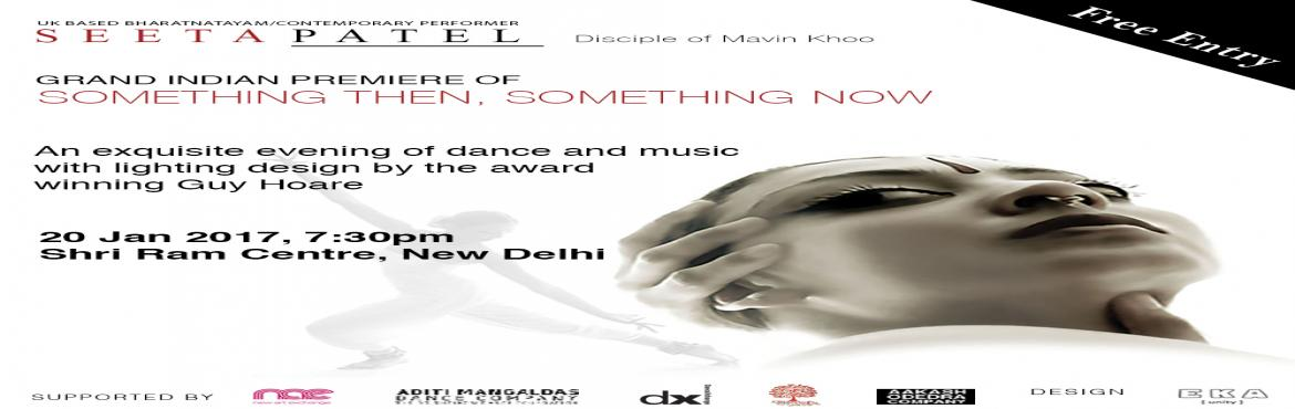 Something Then Something Now by UK based noted artist Seeta Patel
