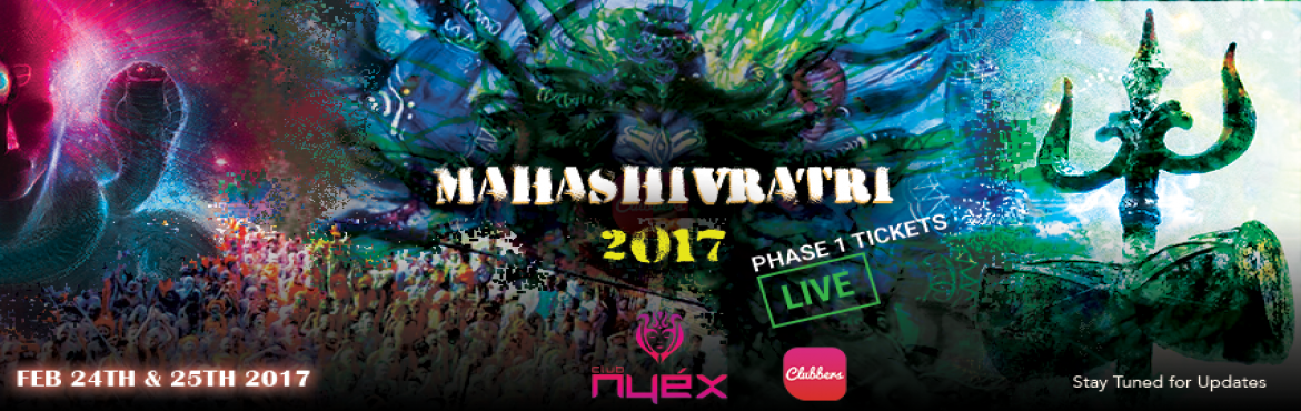Book Online Tickets for Mahashivratri 2017, Anjuna. Nyex Beach Club Presents Mahashivratri 2017 from 24th to 26 feb 2017..the following is the line up of artists for the event Monti, Russia- FIRST TIME INDIA KALKI (Wave Production), France. \